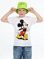 Панама детская «Микки Маус», зеленое яблоко, фото 1