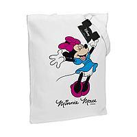 Холщовая сумка «Минни Маус. So Happy!», белая, фото 1