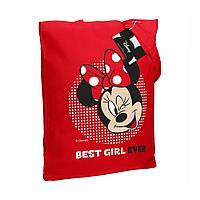 Холщовая сумка «Минни Маус. Best Girl Ever», красная, фото 1