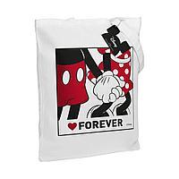 Холщовая сумка «Микки и Минни. Love Forever», белая, фото 1