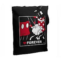 Холщовая сумка «Микки и Минни. Love Forever», черная, фото 1