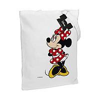Холщовая сумка «Минни Маус. Jolly Girl», белая, фото 1