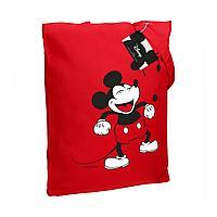 Холщовая сумка «Микки Маус. Sing With Me», красная, фото 1