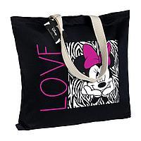 Холщовая сумка «Минни Маус. In Love», черная, фото 1