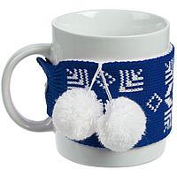 Кружка с манжетой «Снежинки», синяя, фото 1