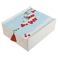 Коробка деревянная, с принтом «Ягоды», фото 1