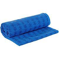 Полотенце-коврик для йоги Zen, синее, фото 1