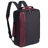 Рюкзак для ноутбука 2 в 1 twoFold, серый с бордовым, фото 1