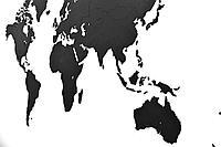 Деревянная карта мира World Map Wall Decoration Large, черная