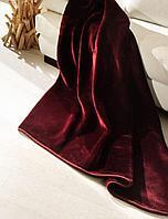 Плюшевый плед DeLuxe, бордо, фото 1
