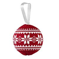Шар новогодний «Скандик», красный, фото 1