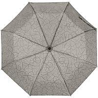 Складной зонт Tracery с проявляющимся рисунком, серый, фото 1