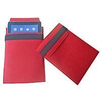 Чехол для iPad из войлока, красный с черным, фото 1