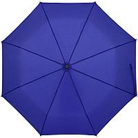 Зонт складной Clevis с ручкой-карабином, ярко-синий, фото 1