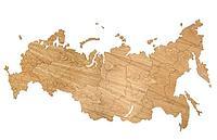 Деревянная карта России, дуб, фото 1