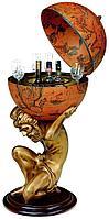 Глобус-бар «Атлант», терракотовый, фото 1