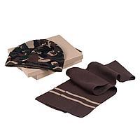 Набор Storm, шарф и шапка, зелено-коричневый, фото 1