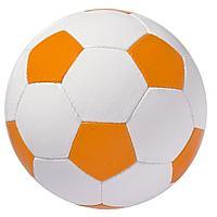 Мяч футбольный Street, бело-оранжевый, фото 1