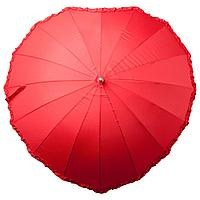 Зонт-трость «Сердце», красный, фото 1