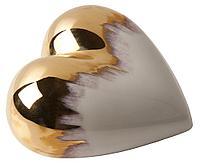Фарфоровое сердце Gold Rain, фото 1