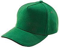 Бейсболка Unit Classic, ярко-зеленая с черным кантом, фото 1