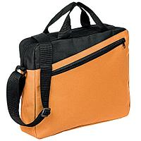 Конференц-сумка Unit Diagonal, оранжево-черная, фото 1
