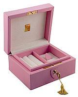 Шкатулка для драгоценностей LIVERPOOL, розовая, фото 1