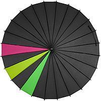 Зонт-трость «Спектр», черный неон, фото 1