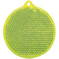 Пешеходный светоотражатель «Круг», неон-желтый, фото 1