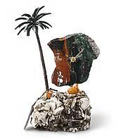 Часы «Пальмовый рай» из яшмы с бронзой, фото 1