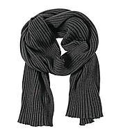 Шарф Mono, черно-серый, фото 1