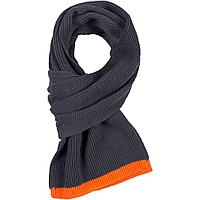 Шарф Amuse, темно-серый с оранжевым, фото 1