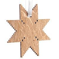 Деревянная подвеска Carving Oak, в форме снежинки, фото 1