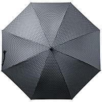 Зонт-трость Alessio, черный с серым
