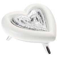 Шкатулка «Сердце», бело-серебристая