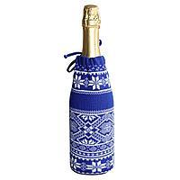 Чехол для шампанского «Скандик», синий (василек), фото 1