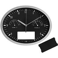 Часы настенные INSERT3 с термометром и гигрометром, черные, фото 1
