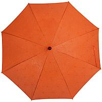 Зонт-трость Magic с проявляющимся цветочным рисунком, оранжевый