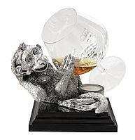Коньячница «Обезьяна» с серебряным декором, фото 1