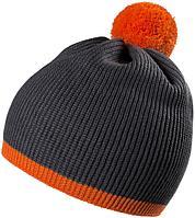 Шапка Amuse, темно-серая с оранжевым, фото 1