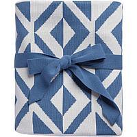 Плед Metropol, голубой с молочно-белым, фото 1