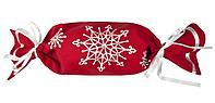 Упаковка-конфета «Снежинки», красная, фото 1