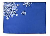 Декоративная салфетка «Снежинки», синяя, фото 1