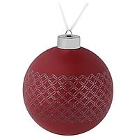 Елочный шар Queen, 10 см, красный, фото 1