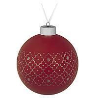 Елочный шар Chain, 10 см, красный