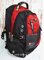 Городской рюкзак Swissgear с дождевиком красный 8815