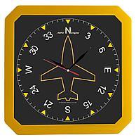 Часы настенные «Квадро», желтые, фото 1