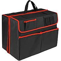 Органайзер в багажник автомобиля Carmeleon, черный с красным, фото 1