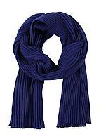 Шарф Mono, темно-синий, фото 1