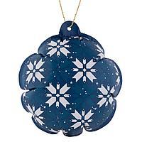 Новогодний самонадувающийся шарик «Скандик», синий, фото 1